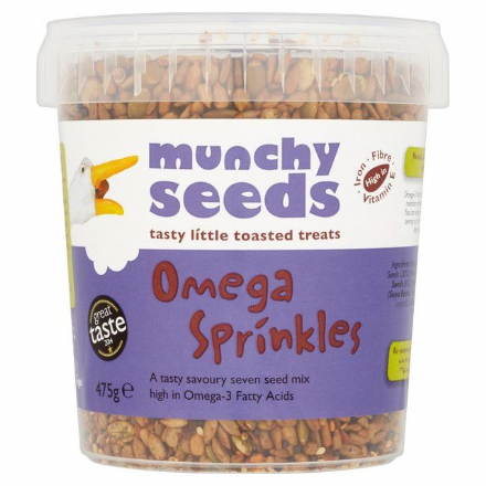 Munchy Seeds Omega Sprinkles 475g, Source of Protein, Fibre, Omega 3, Resealable Tub